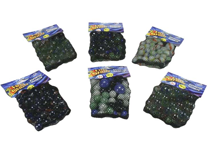Assorted Marble Pack - 50 Regular Size with 3 Jumbo
