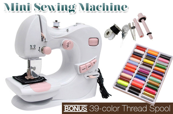 Multi-Function Portable Mini Sewing Machine with 39 Colour Thread Spool