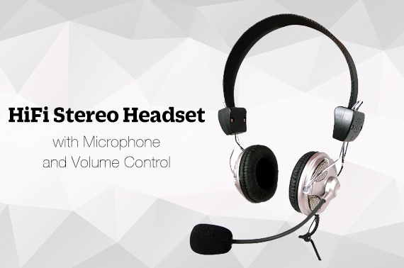 LASER HiFi Stereo Headset with Microphone and Volume Control