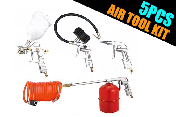 5PCS Car Air Tool Kit for Car Maintenance & Restoration