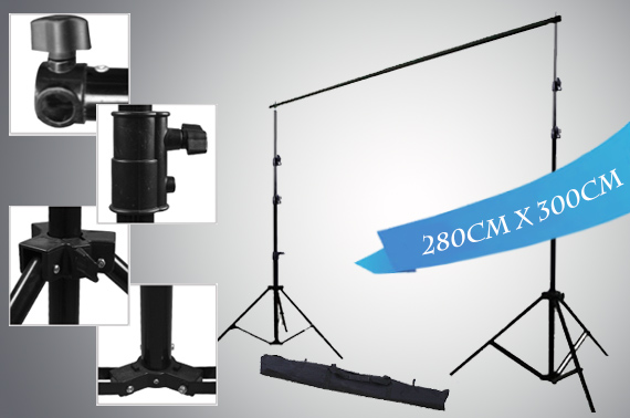 2.8x3m Professional Photography Background Support Stand