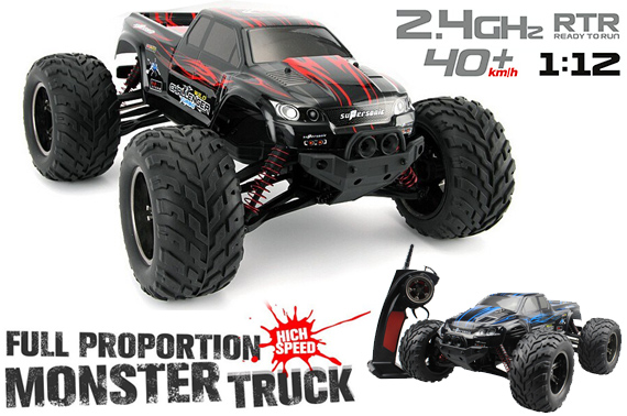 2.4GHz 1:12 RC Full Proportion High Speed Monster Truck