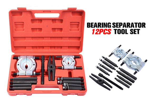 12PCS Bearing Splitter Gear Puller Fly Wheel Separator Kit with Box
