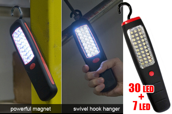 37-LED Torch with Hanger & Magnet