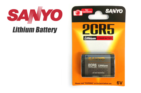 SANYO 6V 2CR5 Lithium Battery for Cameras