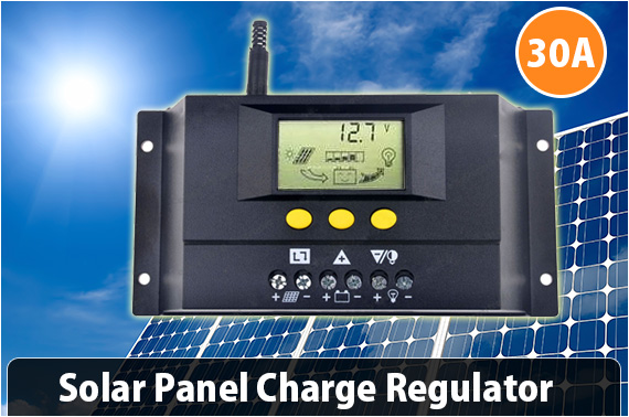 30A Solar Charge Controller 12V  with LCD Display