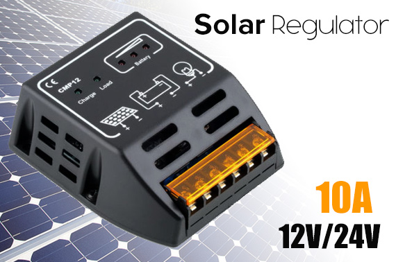 Solar 10A 12V/24V Regulator Controller Panel Charger