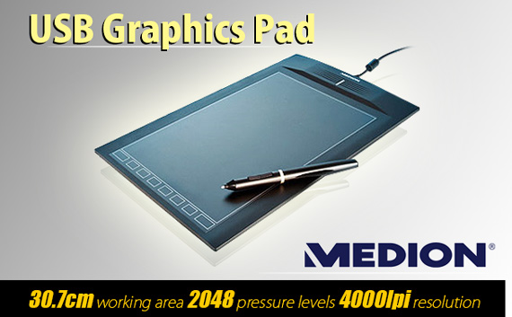Refurbished Medion P82018 USB Graphics Pad with Wireless Pen (MD 86635)