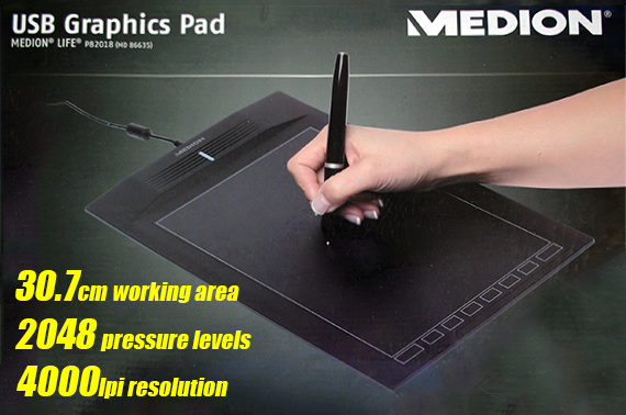 Refurbished Medion P82018 USB Graphics Pad with Wireless Pen (MD 86935)