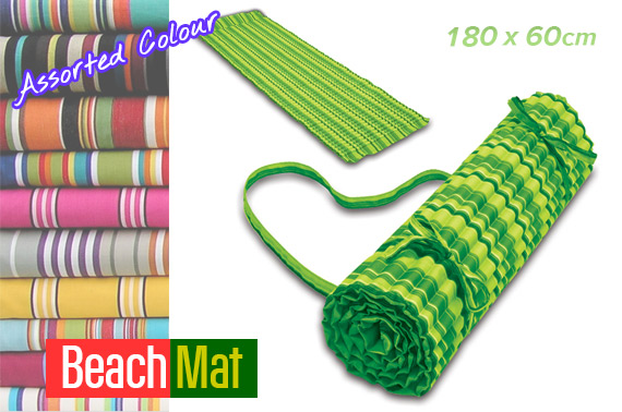 Roll Up Beach Mats Dressage Stripe Images Frompo