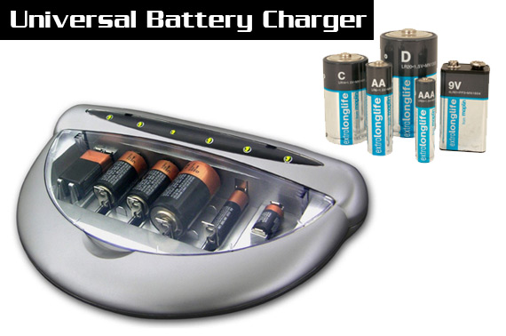 Universal Battery Charger for Ordinary and Rechargeable Batteries