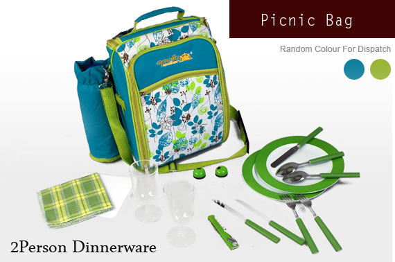Super Deal: QUALITY Apollo Walker 2-Person Picnic Bag with Wine Holder & Dinnerware