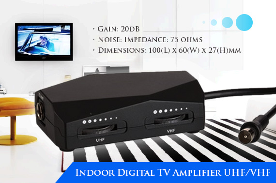 Indoor Digital TV Amplifier UHF/VHF