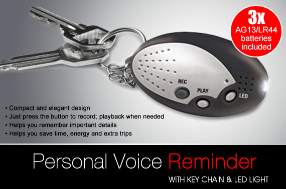 Digital Personal Voice Reminder