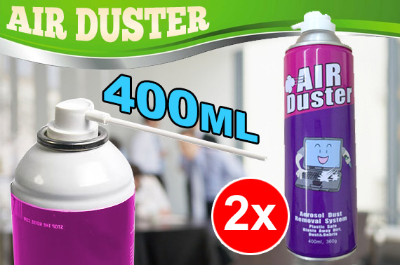 2x Compressed Air Duster 400mL