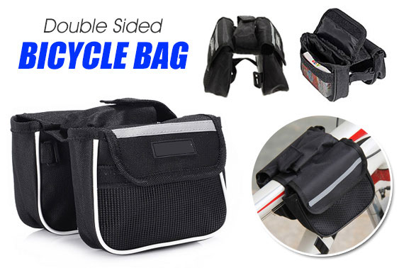 Double Sided Mini Bicycle Front Tube Pannier