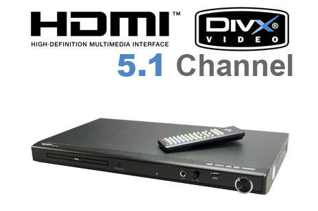 Refurbished VUE 5.1 Channel DVD Player with HDMI/USB