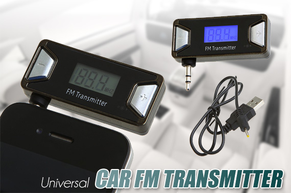 Hands Free 3.5mm LCD Car FM Transmitter for iPhone iPod MP4 MP3 Player