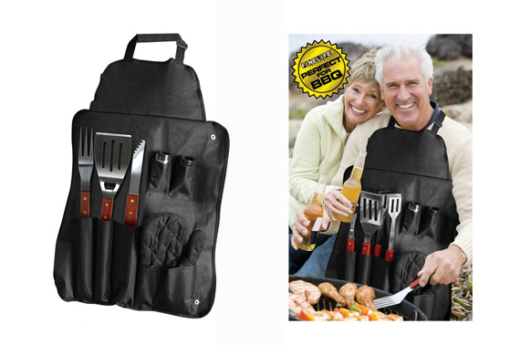 7PC BBQ Apron and Utensil Set