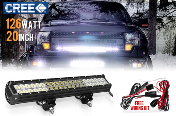 20inch 126W CREE LED Working Light Bar - Flood/Spot Combo Beam