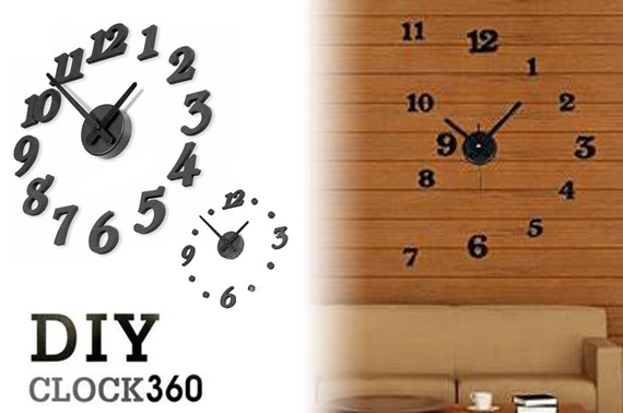 DIY Black Wall Clock - Create Your Own Styles