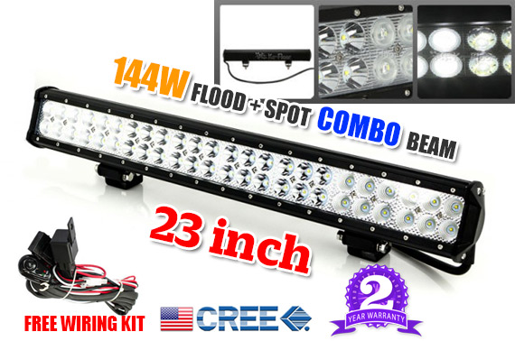 23inch 144W CREE LED Working Light Bar - Flood/Spot Combo Beam