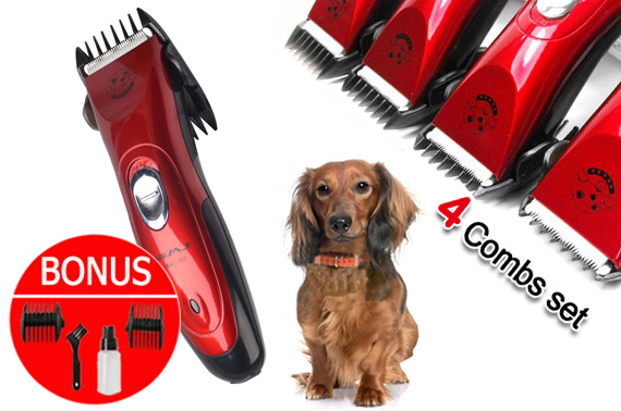Cordless Electric Pet Clipper Grooming Comb Set