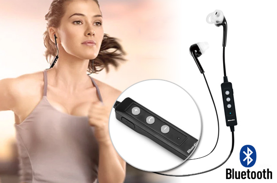 Bluetooth Wireless Stereo Sport Headset with Built-in Microphone