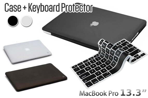 Rubberized Hard Case & Keyboard Protector for Macbook Pro 13.3