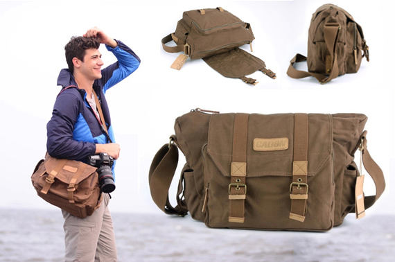 CADEN Canvas DSLR Camera Messenger Shoulder Bag