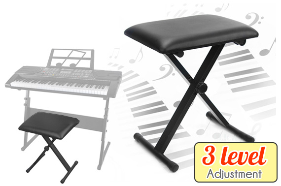 3 Level Adjustable Keyboard Piano Folding Stool
