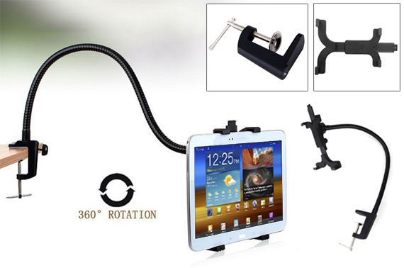 360 Rotating Flexible Gooseneck Tablet Holder