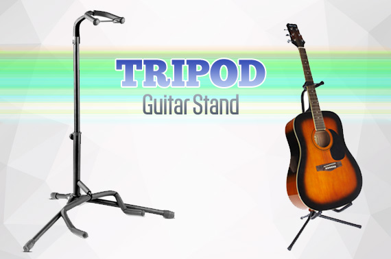 Tripod Guitar Stand with Folding Legs