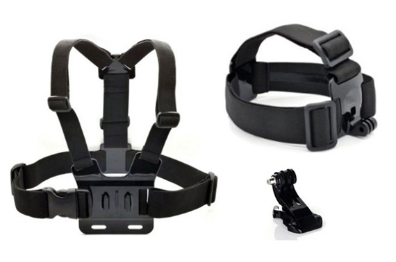 Head Strap Mount + Chest Harness Bundle for GoPro Cameras