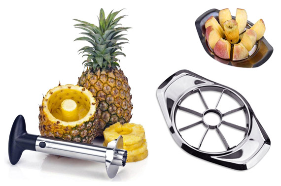 2 Pack Combo Stainless Steel Apple & Pineapple Stainless Steel Slicers