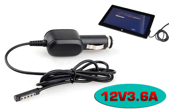 Car Charger and Power Adapter (12V 3.6A) for Microsoft Surface PRO 1/2