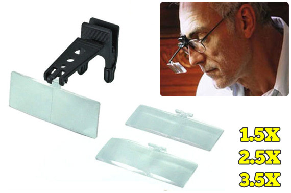 1.5X/2.5X/3.5X Hands Free Magnifying Glasses with Clip