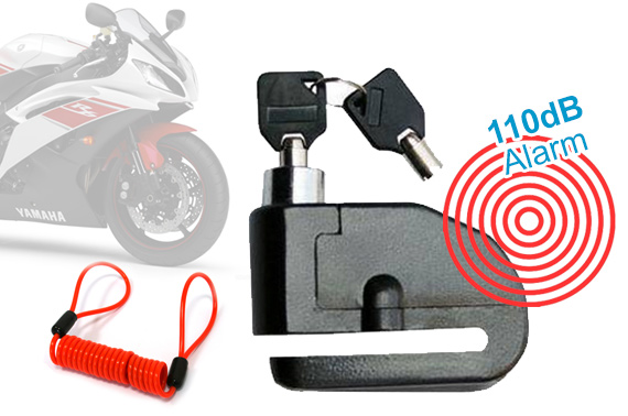 Motorcycle Disc Lock with Alarm