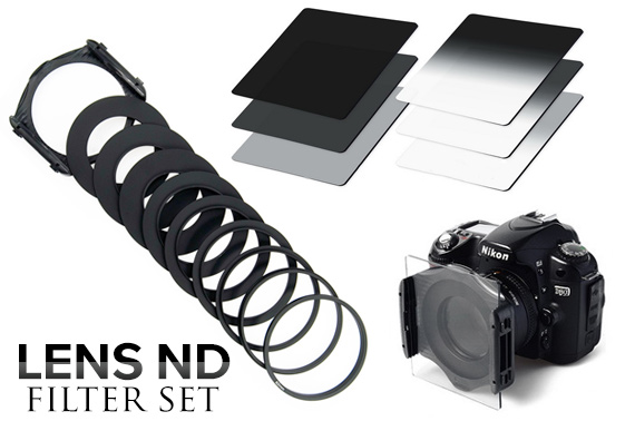 8-Piece Full Graduated Neutral Density ND Colour Filter Set