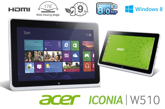 Ex-lease ACER Iconia W510 Windows Tablet