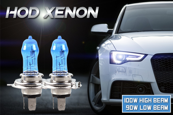 2x 12V HOD Xenon Car Super White Headlight Bulb 100W
