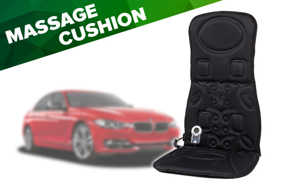 Free Delivery: Car's 6 Motor Back Massage Seat Cushion with Built-in Heater