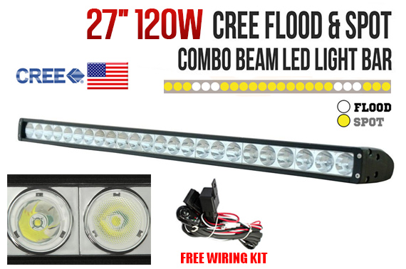 27inch 120W CREE LED Flood/Spot Combo Work Light Bar