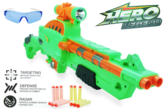 Hero Legend Rifle Machine Guns Toy w/ Water Beads Bullets & Goggle
