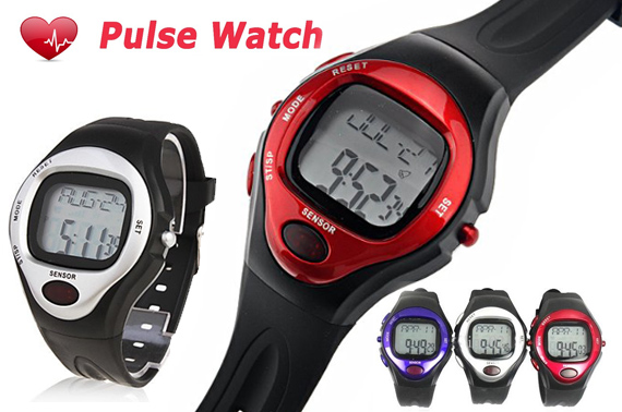 Calorie Counter/Heart Rate Monitor Multi-Functional Digital Wrist Watch