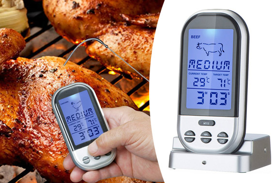 Wireless Remote Digital Cooking Thermometer