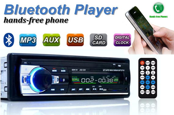Bluetooth Car In-dash MP3/USB/SD/AUX-IN/FM Stereo Head Unit