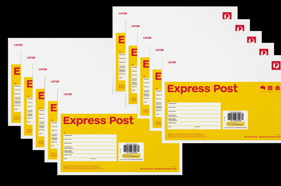 9x Express Post Large (B4) Envelope 500G 20mm