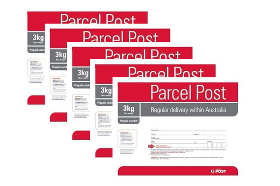 5x 3kg Prepaid Parcel Australian Post Regular Satchel