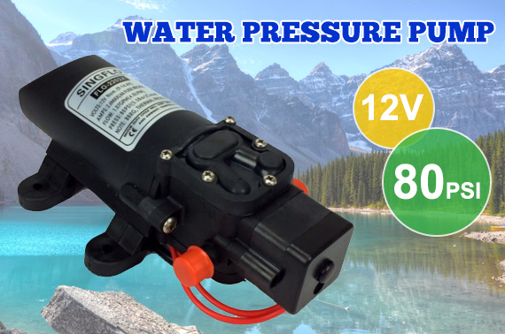 12V 80PSI Diaphragm Water Pressure Pump 4L/m Self-Priming